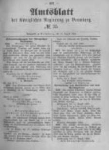 Amtsblatt der Königlichen Preussischen Regierung zu Bromberg. 1889.08.30 No.35