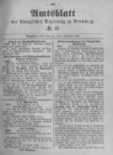 Amtsblatt der Königlichen Preussischen Regierung zu Bromberg. 1889.09.06 No.36