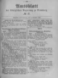 Amtsblatt der Königlichen Preussischen Regierung zu Bromberg. 1889.09.13 No.37