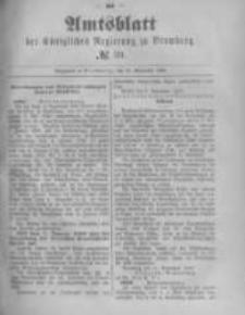 Amtsblatt der Königlichen Preussischen Regierung zu Bromberg. 1889.09.27 No.39