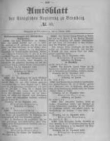 Amtsblatt der Königlichen Preussischen Regierung zu Bromberg. 1889.10.04 No.40