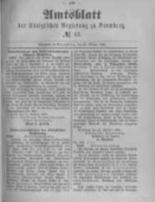 Amtsblatt der Königlichen Preussischen Regierung zu Bromberg. 1889.10.25 No.43