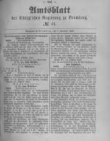 Amtsblatt der Königlichen Preussischen Regierung zu Bromberg. 1889.11.01 No.44