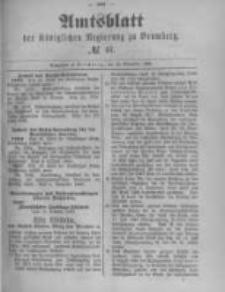 Amtsblatt der Königlichen Preussischen Regierung zu Bromberg. 1889.11.15 No.46