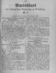 Amtsblatt der Königlichen Preussischen Regierung zu Bromberg. 1889.11.22 No.47