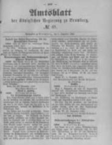 Amtsblatt der Königlichen Preussischen Regierung zu Bromberg. 1889.12.06 No.49