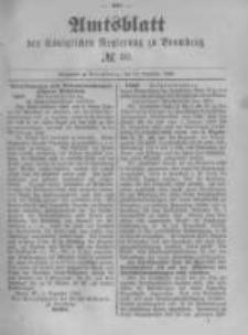 Amtsblatt der Königlichen Preussischen Regierung zu Bromberg. 1889.12.13 No.50