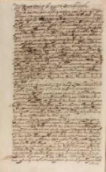 Prescriptum legationis SRM [Sigismundi III] ad Joachimum Fridericum S. Romani Impery electorem et archicamerarium, Warszawa 20.05.1606