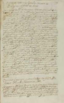Responsum internunciis Rigensibus Cracouiae 12 mensis January MDCVIII datum
