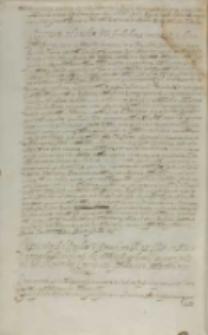 Responsum ad easdem literas Archiducis [Matthiae] nomine SRM [Sigismundi III] datum, Kraków 30.03.1608