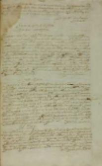 Ad Regem [Sigismundum III Andreas Opaliński?], Rzym 18.09.1608