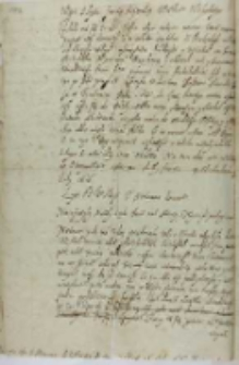 Wypis z lystu Jansego? Mytnika wielkiego woloskiego, z Michałowa 19.07.1616