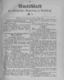 Amtsblatt der Königlichen Preussischen Regierung zu Bromberg. 1890.01.31 No.5