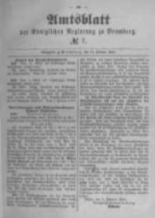 Amtsblatt der Königlichen Preussischen Regierung zu Bromberg. 1890.02.14 No.7