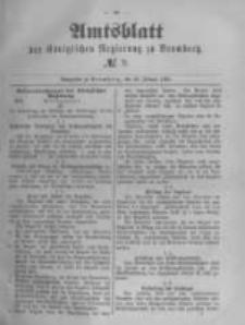 Amtsblatt der Königlichen Preussischen Regierung zu Bromberg. 1890.02.28 No.9