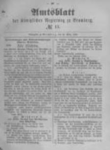 Amtsblatt der Königlichen Preussischen Regierung zu Bromberg. 1890.03.28 No.13
