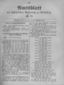 Amtsblatt der Königlichen Preussischen Regierung zu Bromberg. 1890.09.26 No.39