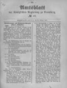 Amtsblatt der Königlichen Preussischen Regierung zu Bromberg. 1890.10.24 No.43
