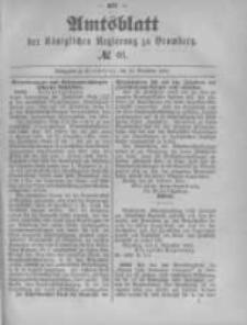 Amtsblatt der Königlichen Preussischen Regierung zu Bromberg. 1890.11.14 No.46