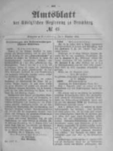 Amtsblatt der Königlichen Preussischen Regierung zu Bromberg. 1890.12.05 No.49