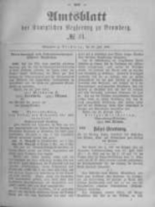 Amtsblatt der Königlichen Preussischen Regierung zu Bromberg. 1891.07.30 No.31