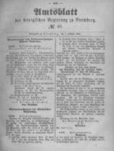 Amtsblatt der Königlichen Preussischen Regierung zu Bromberg. 1891.10.01 No.40