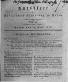 Amtsblatt der Königlichen Regierung zu Posen. 1816.06.25 Nro.4
