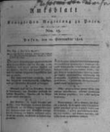 Amtsblatt der Königlichen Regierung zu Posen. 1816.09.10 Nro.15