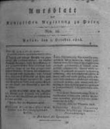 Amtsblatt der Königlichen Regierung zu Posen. 1816.10.01 Nro.18
