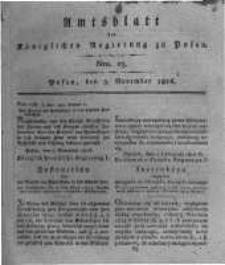 Amtsblatt der Königlichen Regierung zu Posen. 1816.11.05 Nro.23