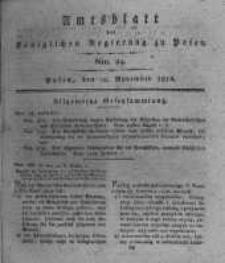 Amtsblatt der Königlichen Regierung zu Posen. 1816.11.12 Nro.24