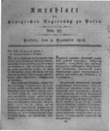 Amtsblatt der Königlichen Regierung zu Posen. 1816.12.03 Nro.27
