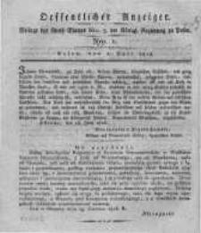 Oeffentlicher Anzeiger. 1816.07.02 Nro.1