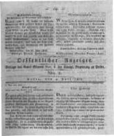 Oeffentlicher Anzeiger. 1816.07.09 Nro.2