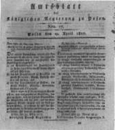 Amtsblatt der Königlichen Regierung zu Posen. 1817.04.29 Nro.17