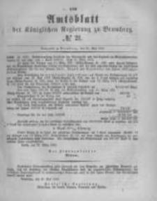 Amtsblatt der Königlichen Preussischen Regierung zu Bromberg. 1882.05.26 No.21