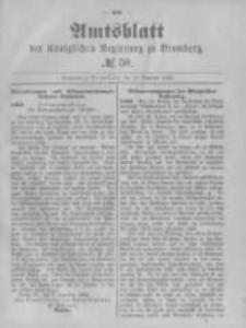 Amtsblatt der Königlichen Preussischen Regierung zu Bromberg. 1882.12.15 No.50