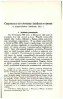 Organizacja siły zbrojnej i działania wojenne w województwie kaliskiem 1831