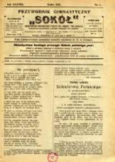 """Przewodnik Gimnastyczny """"Sokół"""": organ Dzielnicy Małopolskiej Związku Polskich Gimnastycznych Towarzystw Sokolich 1921.07 R.38 Nr7"""
