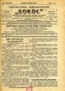 """Przewodnik Gimnastyczny """"Sokół"""": organ Dzielnicy Małopolskiej Związku Polskich Gimnastycznych Towarzystw Sokolich 1921.08/09 R.38 Nr8/9"""