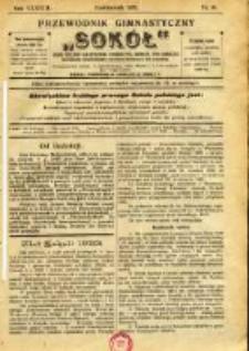"""Przewodnik Gimnastyczny """"Sokół"""": organ Dzielnicy Małopolskiej Związku Polskich Gimnastycznych Towarzystw Sokolich 1921.10 R.38 Nr10"""
