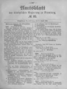 Amtsblatt der Königlichen Preussischen Regierung zu Bromberg. 1893.08.10 No.32