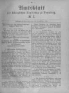 Amtsblatt der Königlichen Preussischen Regierung zu Bromberg. 1894.02.15 No.7