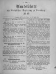 Amtsblatt der Königlichen Preussischen Regierung zu Bromberg. 1894.04.12 No.15