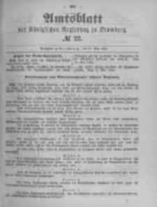 Amtsblatt der Königlichen Preussischen Regierung zu Bromberg. 1894.05.31 No.22