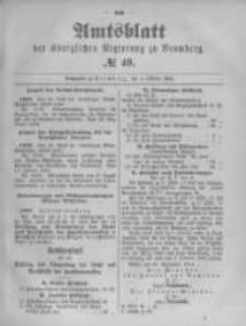 Amtsblatt der Königlichen Preussischen Regierung zu Bromberg. 1894.10.04 No.40