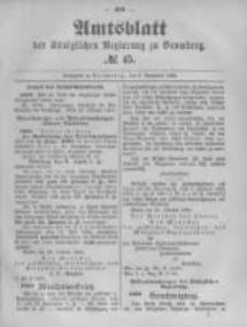 Amtsblatt der Königlichen Preussischen Regierung zu Bromberg. 1894.11.08 No.45