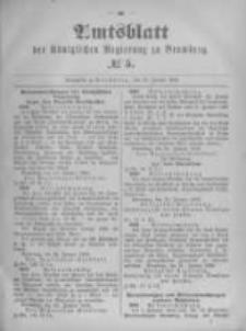 Amtsblatt der Königlichen Preussischen Regierung zu Bromberg. 1896.01.30 No.5