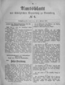 Amtsblatt der Königlichen Preussischen Regierung zu Bromberg. 1896.02.06 No.6