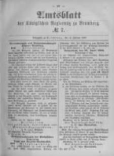 Amtsblatt der Königlichen Preussischen Regierung zu Bromberg. 1896.02.13 No.7